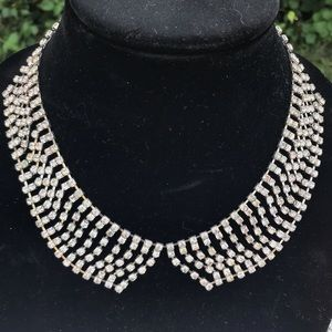 🆕 Darling Rhinestone Peter Pan Collar Necklace